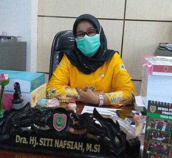 Wakil Ketua Komisi III DPRD Kalteng, Hj Siti Nafsiah