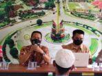 RAKOR: Pemerintah Kecamatan Tamban Catur mengadakan rakor terkait pelaksanaan ibadah di masa pandemi Covid-19 di Aula Kantor Kecamatan Tamban Catur, belum lama ini.FOTO:HUMAS