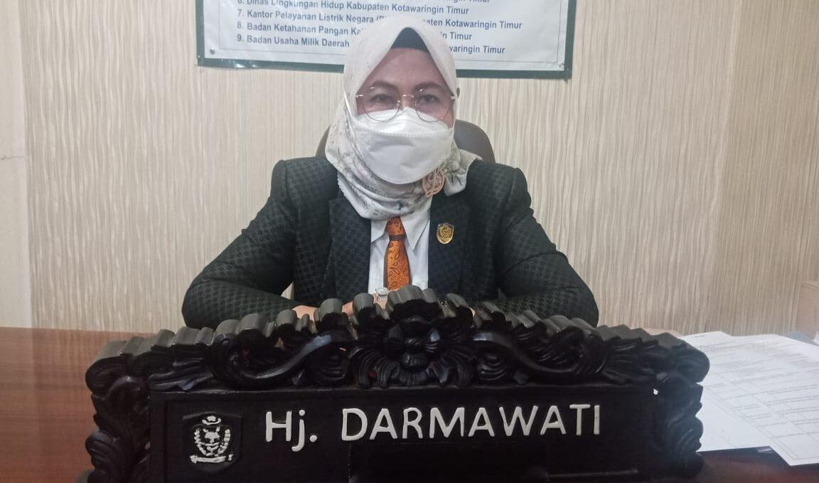 Ketua Komisi II DPRD Kabupaten Kotawaringin Timur (Kotim) Hj.Darmawati