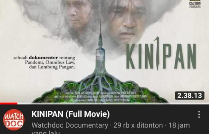 "Film dokumenter karya Watchdoc yang berjudul ""Kinipan"""