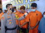 PENGUNGKAPAN: Kapolres Seruyan AKBP Bayu Wicaksono saat bertanya kepada para tersangka persetubuhan anak di bawah umur, Selasa (1/6).FOTO:HUMAS