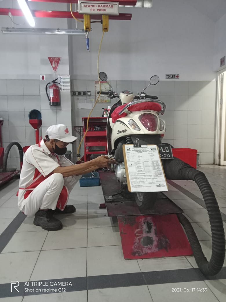 trio motor palangka raya honda
