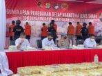 Direktorat Jenderal Pemasyarakatan (Ditjenpas) bersama Tim Satgas Pengungkapan Kasus Narkoba Polda Metro Jaya