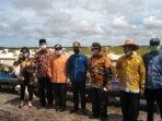 KUNKER DALAM DAERAH : Jajaran Komisi III DPRD Kalteng saat memantau pelaksanaan vaksinasi di Kabupaten Sukamara, Sabtu (3/7/2021).