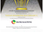 meraih prestasi di ajang Indonesia Financial Top Leader Award 2021 kategori Best Leader for Business Resilience Through Good Corporate Governance Initiative