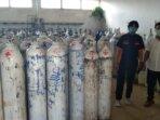 TABUNG OKSIGEN: Ruangan tempat penyimpanan tabung oksigen yang berada di RSUD dr H Soemarno Sosroatmodjo Kapuas.