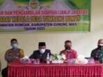 omandan Koramil 1016-05/Rungan Letda Inf Supriyono turut menghadiri acara pelantikan kepala desa terpilih
