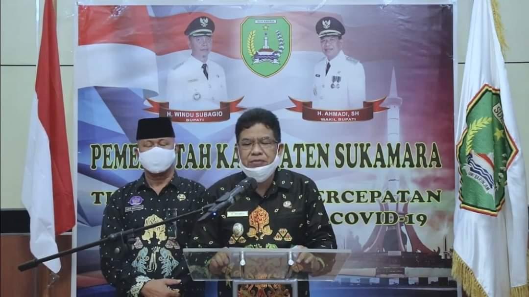 RILIS: Wakil Bupati Sukamara H Ahmadi menyampaikan perkembangan angka kasus Covid-19 di Kabupaten Sukamara belum lama tadi./HUMAS