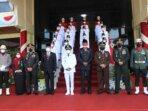 Komandan Kodim 1016/ Palangka Raya, Kolonel Inf Rofiq Yusuf bersama unsur Forkopimda kota mengikuti upacara peringatan HUT RI ke 76
