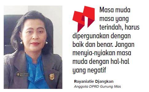 Anggota DPRD Gunung Mas, Pdt Rayaniatie Djangkan.