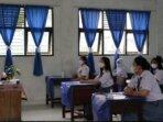 SIMULASI PTM : SMAN 2 Palangka Raya telah melaksanakan simulasi Pertemuan Tatap Muka (PTM) terbatas, Jumat (3/9). /HUMAS