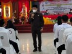 Bupati Murung Raya (Mura) Drs Perdie M Yoseph MA melantik