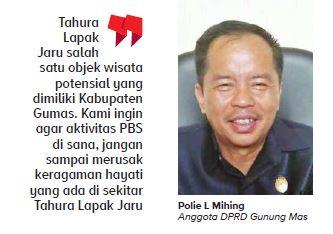 Anggota Dewan Perwakilan Rakyat Daerah (DPRD) Kabupaten Gunung Mas Polie L Mihing
