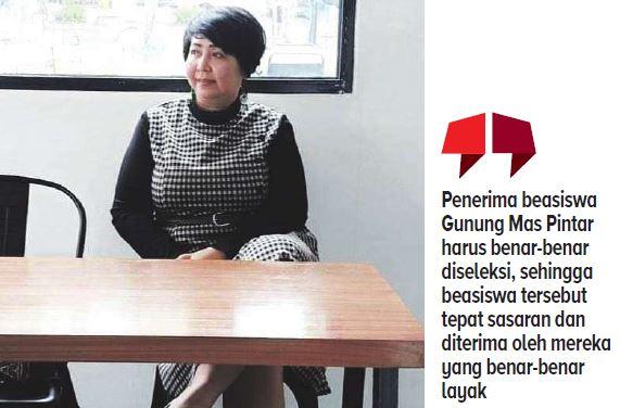 Anggota DPRD Gunung Mas Iceu Purnamasari.