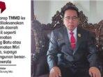 Ketua Dewan Perwakilan Rakyat Daerah Gunung Mas, Akerman Sahidar.