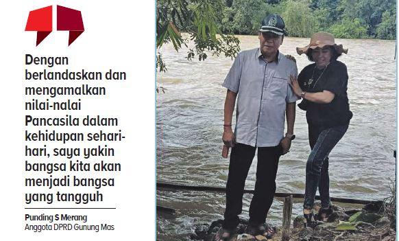 Anggota DPRD Gunung Mas Punding S Merang