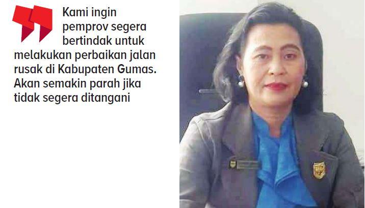 Anggota Dewan Perwakilan Rakyat Daerah (DPRD) Kabupaten Gunung Mas (Gumas) Rayaniatie Djangkan