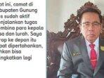 Ketua Dewan Perwakilan Rakyat Daerah (DPRD) Kabupaten Gunung Mas (Gumas) Akerman Sahidar