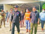 CEK FISIK ASET: Wakil Bupati Katingan Sunardi dan rombongan melakukan kunjungan ke perusahaan PT KBK untuk menginventarisasi aset yang ditinggalkan PT KBK.