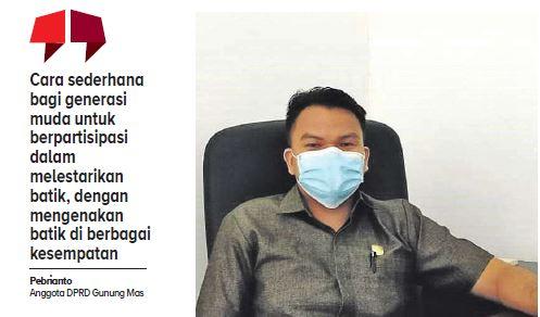 Anggota DPRD Gunung Mas, Pebrianto.